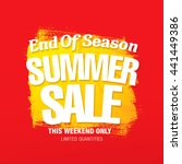 summer sale. vector template... | Shutterstock .eps vector #441449386
