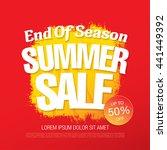 summer sale. vector template... | Shutterstock .eps vector #441449392