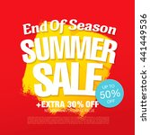 summer sale. vector template... | Shutterstock .eps vector #441449536
