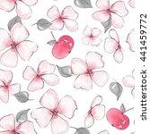 Flowers In Pattern. Seamless...