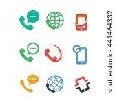 mobile phones communication... | Shutterstock .eps vector #441464332