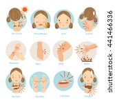 most people are a common skin... | Shutterstock .eps vector #441466336