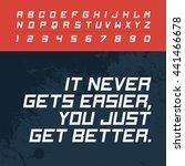fast modern english active... | Shutterstock .eps vector #441466678