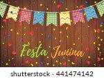 festa junina party greeting... | Shutterstock .eps vector #441474142