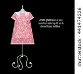 origami paper pink summer...   Shutterstock . vector #441474226
