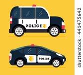 vector modern police car. side... | Shutterstock .eps vector #441475642