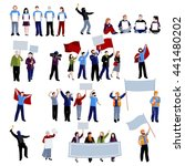 demonstration protest people... | Shutterstock .eps vector #441480202