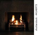 Roaring Flames In A Modern...