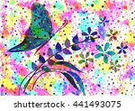 hand drawn textured artistic... | Shutterstock . vector #441493075