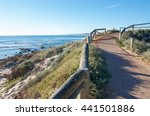 path to the lookout on coastal... | Shutterstock . vector #441501886