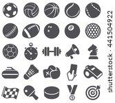 sport icons | Shutterstock .eps vector #441504922