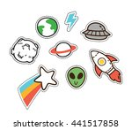 set of cute patch isolated on... | Shutterstock .eps vector #441517858