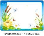 Floral Summer Background Frame...