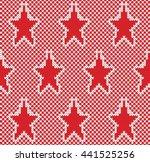 star fairisle seamless knitting ... | Shutterstock .eps vector #441525256