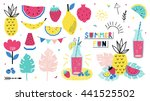 summer individual elements.... | Shutterstock .eps vector #441525502