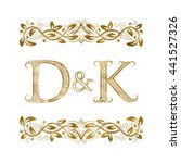 D And K Vintage Initials Logo...