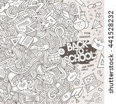 cartoon cute doodles hand drawn ... | Shutterstock .eps vector #441528232
