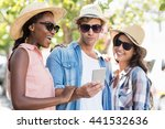 group of friends in sunglasses... | Shutterstock . vector #441532636