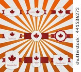canada day national greeting... | Shutterstock .eps vector #441536272