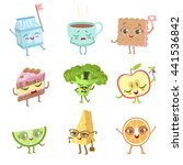 different food childish... | Shutterstock .eps vector #441536842