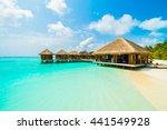 beautiful tropical beach and... | Shutterstock . vector #441549928