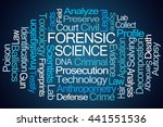 forensic science word cloud on...   Shutterstock . vector #441551536