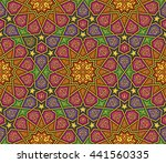 colorful arabesque ornament... | Shutterstock .eps vector #441560335