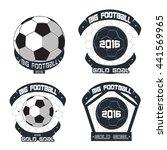 soccer badge logo design... | Shutterstock .eps vector #441569965