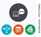 byod sign icon. bring your own... | Shutterstock . vector #441570862