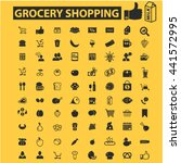 grocery shopping icons | Shutterstock .eps vector #441572995