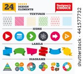banner tags  stickers and chart ...