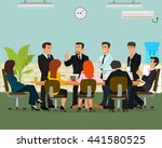 business meeting in an office.... | Shutterstock .eps vector #441580525