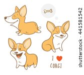 Cute Cartoon Dogs  Breed Welsh...