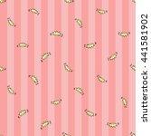 welcome baby girl decorative... | Shutterstock .eps vector #441581902