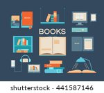 vector set of books. collection ... | Shutterstock .eps vector #441587146