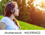 side view closeup portrait of... | Shutterstock . vector #441590422