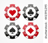 set of gambling chips  isolated ... | Shutterstock .eps vector #441591295