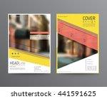 business template for brochure  ... | Shutterstock .eps vector #441591625