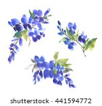 Watercolor Flower Sketch On...