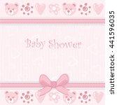 baby shower invitation card | Shutterstock . vector #441596035
