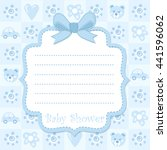 baby shower invitation card | Shutterstock . vector #441596062