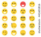 set of emoticons. set of emoji. ... | Shutterstock .eps vector #441601816