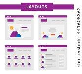 set of simple flat website...