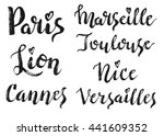 france city hand drawn vector...