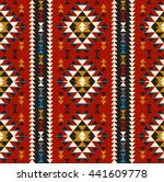 tribal seamless colorful... | Shutterstock .eps vector #441609778