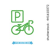 parking bicycle icon vector... | Shutterstock .eps vector #441610372