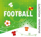 a football themed design with... | Shutterstock .eps vector #441615472