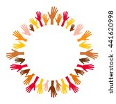 diversity multicolored hands...   Shutterstock .eps vector #441620998