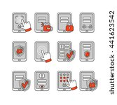 vector icons set of mobile...