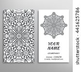 business card with black and... | Shutterstock .eps vector #441625786